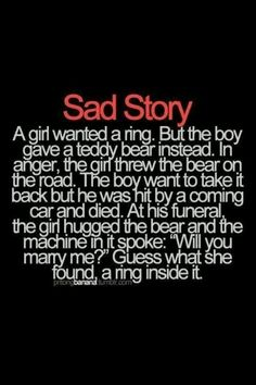 Supper cute but sad story :(