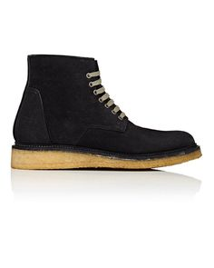 c42c8fee5e06 Rick Owens - Black Crepe-sole Reverse-leather Boots for Men - Lyst
