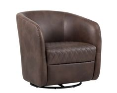 DAX SWIVEL CLUB CHAIR - HAVANA DARK BROWN - New Arrivals - Products Green Leather Chair, Leather Club Chairs, White Leather, Leather Swivel Chair, Swivel Club Chairs, Swivel Barrel Chair, Old Chairs, Eames Chairs, High Chairs