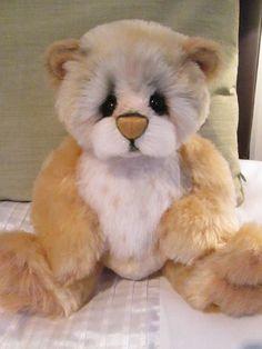 Artist bear, Biskino designed by Ellen Borggreve, Ooak Mohair & Alpaca bear!