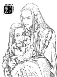 """maedhrosmaitimo: """"thranduil and oropher is so cute im fund in weibo.com i think the autor is 巴克莲 ./// Adorable!!! """""""