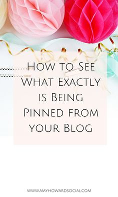 Did you know that you can see what exactly is being pinned from your website? Read on to discover how to see what exactly is being pinned from your site! Social Media Tips, Social Media Marketing, Content Marketing, Digital Marketing, Amy Howard, Pinterest For Business, Blogging For Beginners, Blogging Ideas, Facebook