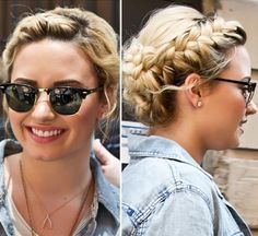 Demi Lovato's Milk Maid Braids — Get Her Gorgeous Look