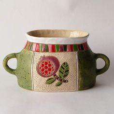 """Ваза""""Гранат"""" стоимость 5500руб. #ваза #ручнаялепка #ручнаяработа #керамика #керамикаручнойработы"""