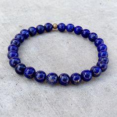 compassion - sixth chakra, genuine lapis lazuli gemstone mala bracelet – Lovepray jewelry