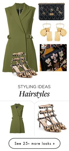 """Untitled #4808"" by hanii-omachiss on Polyvore featuring Balmain, Aurélie Bidermann and Valentino"