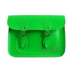 Bolsa Croisfelt Satchel Feminina Carteiro, Verde Fluo 11'' Retro Vintage Transversal Estilo #itbag #fashion #fluorescente