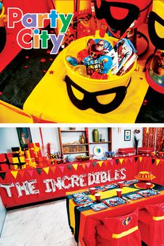 Save the day with incredible decorations. Shop Party City's incredible watch party collection for costumes, decorations, tableware, and more. 3 Year Old Birthday Party Boy, 1st Birthday Boy Themes, 6th Birthday Parties, Birthday Fun, Birthday Party Decorations, Birthday Ideas, Incredibles Birthday Party, The Incredibles, Birthdays