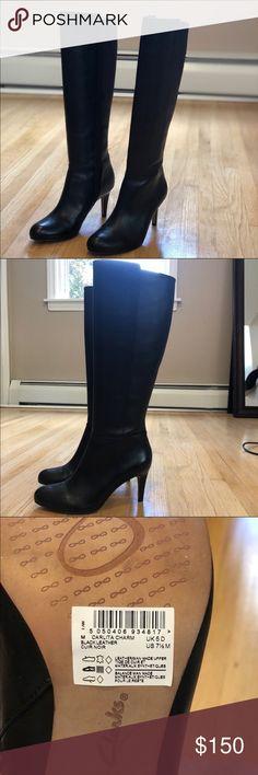0bb8e2f56eb NWT Clark s Carlita Charm leather boots sz 7.5