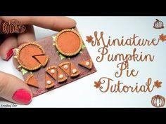 Miniature Pumpkin Pie Tutorial-Polymer Clay