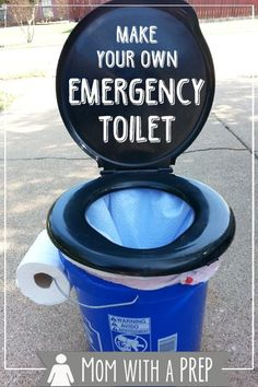 Day 24 - Make Your Own Emergency Toilet from Mom with a PREP | 30 Days of Preparedness 2014