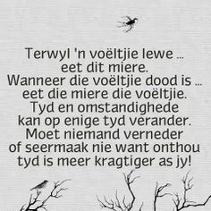 Terwyl n voeltjie lewe. Scripture Verses, Bible Verses Quotes, Bible Scriptures, Great Quotes, Me Quotes, Qoutes, Inspirational Quotes, Motivational, Wedding Wishes Messages
