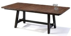 Solid Wood Winchester Extension Table in Black & Honey Nut Finish