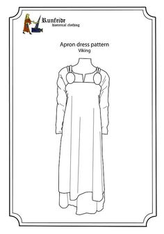 Pattern and sewing instructions for both handsewing and machine sewing. Easy and beginner friendly. Fabric recomandations: Thin wool. Fabric length: 2,5-3m depending on fabric width and size. Sizes: xS-xL