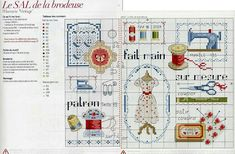 Lien Internet, Stitch 2, Counted Cross Stitch Patterns, Le Point, Bullet Journal, Embroidery, Vintage, Sewing, Holiday Decor