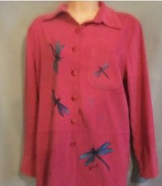 womens size 10 pink jacket blouse top shir tSag Harbor #SagHarbor #ButtonDownShirt #Casual