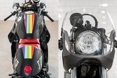 not hot on the rainbow but check out the seat and front fairing on this duck, incredible Style and Design.