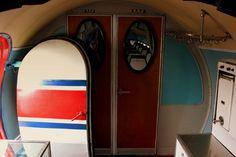 AIR KORYO ILYUSHIN IL14 P535 INSIDE CABIN VIEW AT PYONGYANG SUNAN AIRPORT DPRK NORTH KOREA OCT 2012