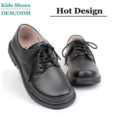 Hot black children boys school shoes pu genuine leather child shoes