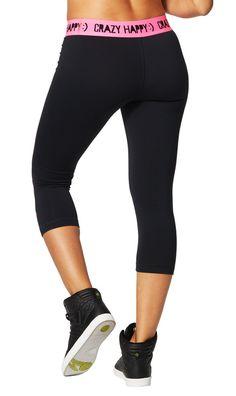 Crazy Happy Capri Leggings | Zumba Fitness Shop