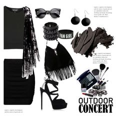 """""""Outdoor Summer Concert"""" by janephoto ❤ liked on Polyvore featuring Zizzi, Mia Bag, Casadei, Karen Kane, Butter London, Topshop, Bobbi Brown Cosmetics, Rimmel, Pussycat and outdoorconcert"""