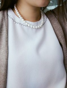 Pearl Necklace, Fans, Posts, Pearls, Jewelry, Fashion, String Of Pearls, Moda, Messages