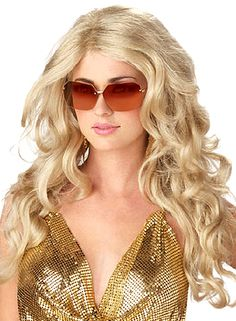 Sexy Super Model Costume Wig - Blonde. Strunt the run way with this amazing model costume wig. This costume accessory is very versatile and goes great with any hot costume. Make your costume character more realistic and hotter with this blonde costume wig. Pair this amazing adult costume wig with any costumes. You will be on hot mama with this sexy super model wig.