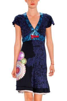 Robe Desigual, Mode Femme, Couture, Robes Bleues, Nouvelles Tendances,  Style Cool bd87650bc487