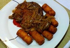 Gombás szarvas szeletek Atkins, Gnocchi, Tapas, Steak, Paleo, Food And Drink, Beef, Meat, Ox