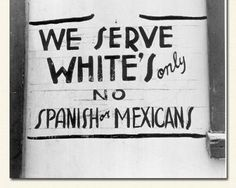 Jim Crow Laws (Spaniards are essentially white. Mexicans are indigenous. Love that American racial ignorance! Mexican American, African American History, Japanese American, American War, Jim Crow, Mexicans, Rosa Parks, The Victim, World History