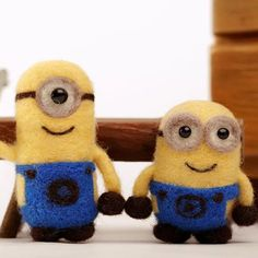 Minions needle felting DIY kit by APHandcrafts on Etsy
