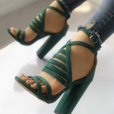 Charming Strappy Open Toe Stiletto Sandals Hot High Shoes Cheap Prom Shoes from Eoooh❣❣ Charming Riemchen Open Toe Stiletto Sandalen Hot High Shoes Günstige Prom Schuhe von Eoooh❣❣ High Shoes, Women's Shoes, Me Too Shoes, Shoes Sneakers, Lace Up Heels, Pumps Heels, Stiletto Heels, Strappy Heels, Trend Fashion