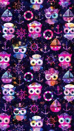 Owl Wallpaper Iphone, Cute Owls Wallpaper, Summer Wallpaper, Kids Wallpaper, Cellphone Wallpaper, Colorful Wallpaper, Wallpaper Ideas, Iphone Wallpapers, Cute Wallpapers