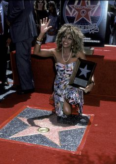 Tina Turner during Tina Turner Recieves A Star on the Walk of Fame August 27 1986 at Hollywood Walk of Fame in Hollywood California United States