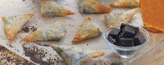 Σιροπιαστά τρίγωνα σοκολάτας Dairy, Cheese, Food, Essen, Meals, Yemek, Eten