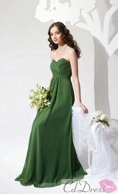 A line Sweetheart Chiffon Long Bridesmaid Dresses - Bridesmaid Dresses - Wedding Party Dresses - CDdress.com