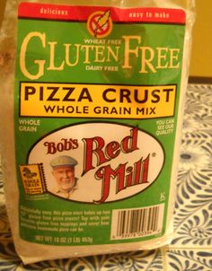 Bob's Red Mill pizza crust Dairy Free Pizza, Bobs Red Mill, Good Pizza, Gf Recipes, Free Products, International Recipes, Oven, Canning, Eat