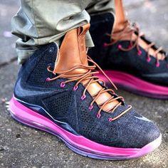 Nike Lebron 10 EXT Denim On Foot Images | KicksOnFire