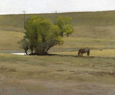 Watering Place, 12 x 14 inches, oil on panel. Marc Bohne