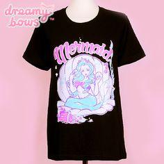Mermaid Treasure Tee - Black