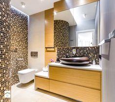 DOM RODZINNY KRYNICA MORSKA - Średnia łazienka w bloku bez okna, styl nowoczesny - zdjęcie od STUDIO FORMA
