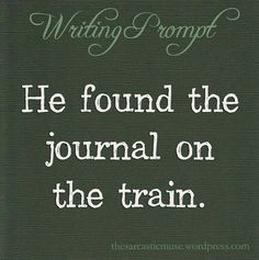 Mrs Robin told me years ago to write a story about a person on a train. I had writer's block but this I can relate to