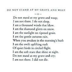 i am not here. i did not die.