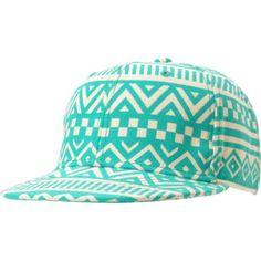 Neff Girls Inca Green & White Tribal Print Snapback Hat