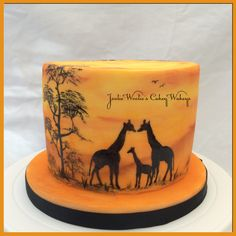 African sunset cake