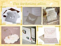 décoration mariage idées thème anges faire part ailes parchemin rouleau  nuage médaillon