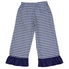 Laney Loops - Navy Blue Chevron Single Ruffle Cotton Pants, $19.99 (http://www.laneyloops.com/navy-blue-and-white-chevron-single-ruffle-cotton-pants/)