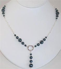 www.BestBuyBeads.com - Stunning Necklace in Swarovski Tahitian Crystal Pearls - Project #106 on the Jewelry-design Idea Page. #JewelryIdeas