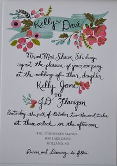 Pretty vintage-like painted flowers. Or maybe Dee can decorate something? Even thought about simply using the silhouette letterhead technique I learned a while ago.