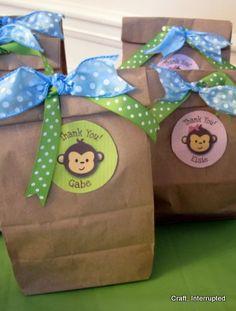 Craft, Interrupted: Monkey Party Favors - Monkey Ear Headbands & Tail Belts!